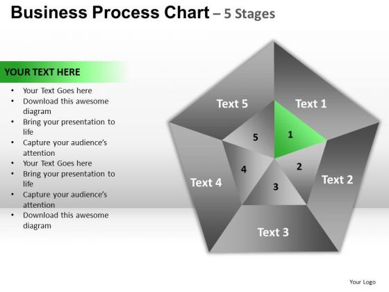 PowerPoint Process Graphic Circular Quadrant Ppt Template