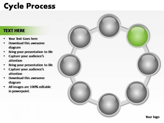 PowerPoint Process Graphic Cycle Process Ppt Theme