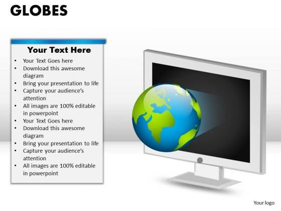 PowerPoint Process Graphic Globes Ppt Process