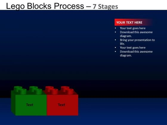 PowerPoint Process Graphic Lego Blocks Ppt Presentation