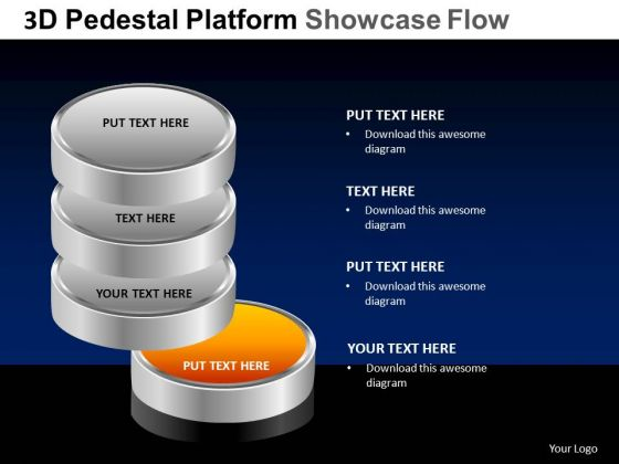 PowerPoint Process Graphic Pedestal Platform Showcase Ppt Layout