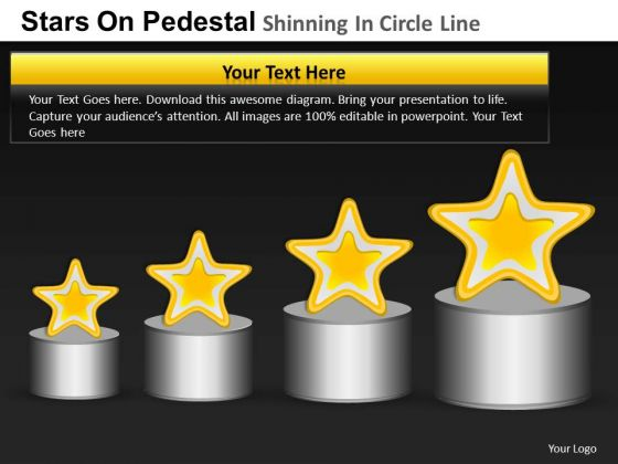 PowerPoint Process Graphic Pedestal Shinning Ppt Slide Designs