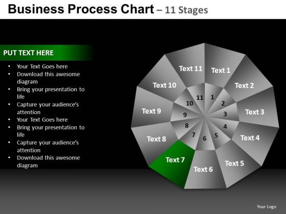 PowerPoint Process Graphic Pie Chart Ppt Design
