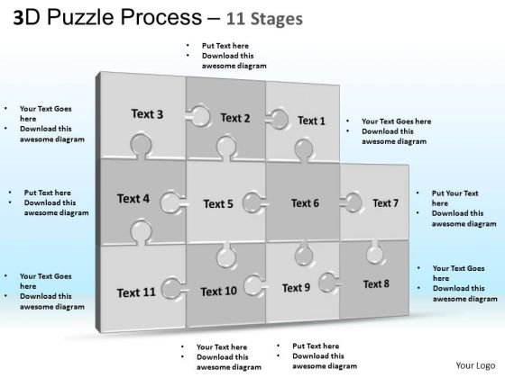 PowerPoint Process Graphic Puzzle Process Ppt Theme