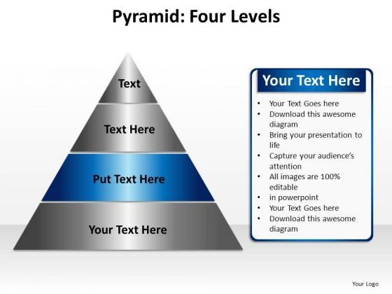 PowerPoint Process Graphic Pyramid Four Ppt Theme