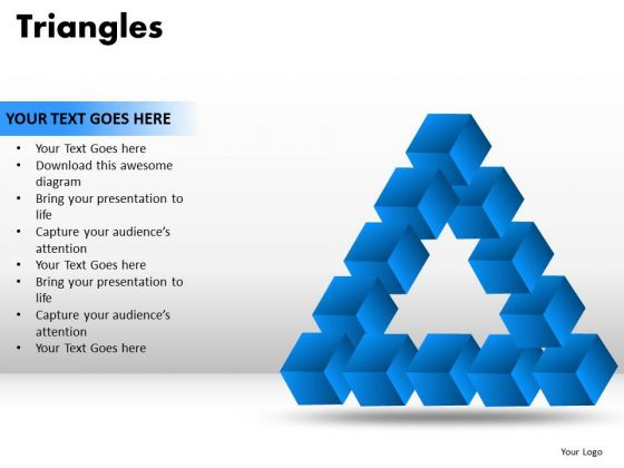 PowerPoint Process Graphic Triangles Ppt Slides