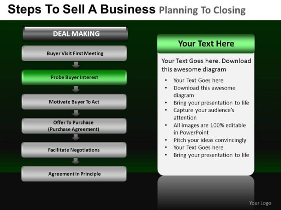 PowerPoint Process Growth Business Planning Ppt Slides