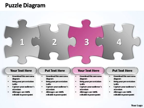 PowerPoint Process Growth Business Stages Puzzle Ppt Template
