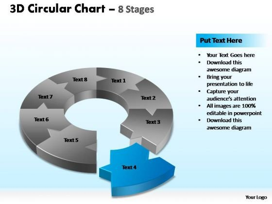 PowerPoint Process Growth Circular Chart Ppt Slides