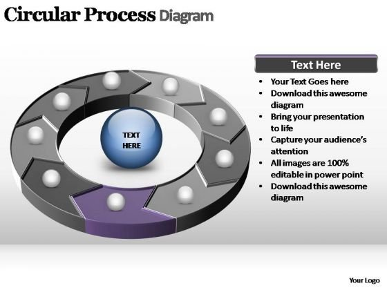 PowerPoint Process Growth Circular Process Ppt Theme