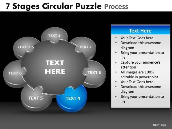 PowerPoint Process Growth Circular Puzzle Ppt Theme