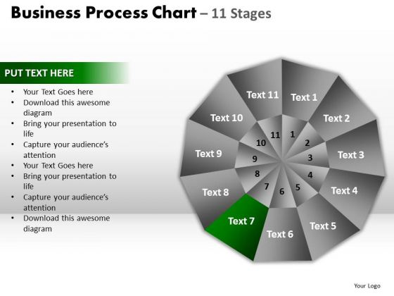 PowerPoint Process Growth Circular Quadrant Ppt Design