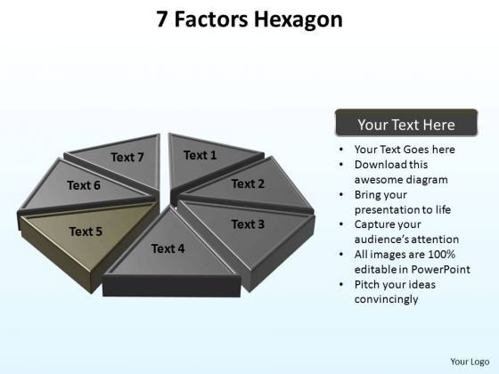 PowerPoint Process Growth Hexagon Ppt Template