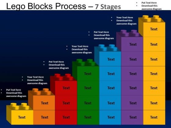 PowerPoint Process Growth Lego Blocks Ppt Backgrounds