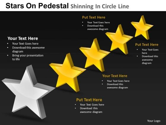 PowerPoint Process Growth Pedestal Shinning Ppt Templates