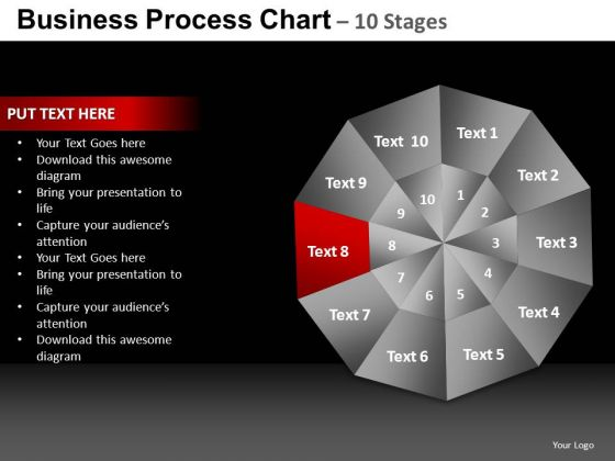 PowerPoint Process Growth Pie Chart Ppt Design