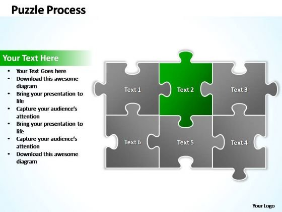 PowerPoint Process Growth Puzzle Ppt Slides