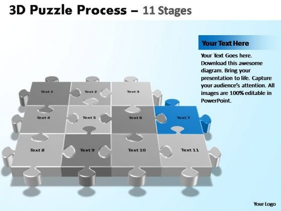 PowerPoint Process Growth Puzzle Process Ppt Design Slides