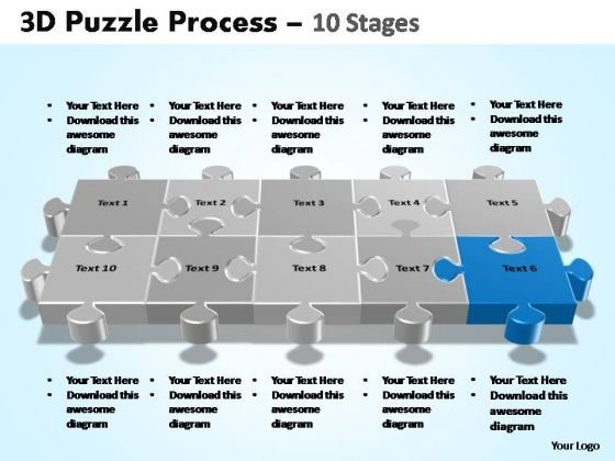 PowerPoint Process Growth Puzzle Process Ppt Template