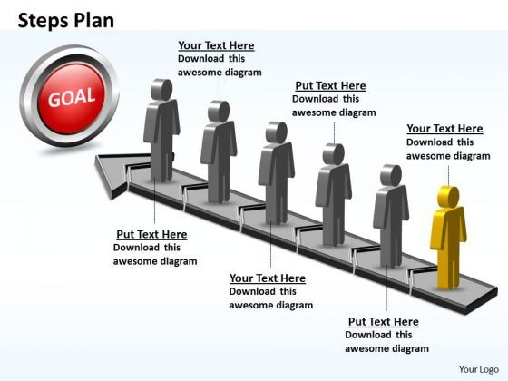 PowerPoint Process Growth Steps Plan 6 Stages Style 5 Ppt Slide