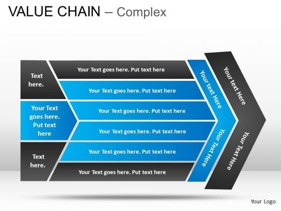 PowerPoint Process Growth Value Chain Ppt Slides
