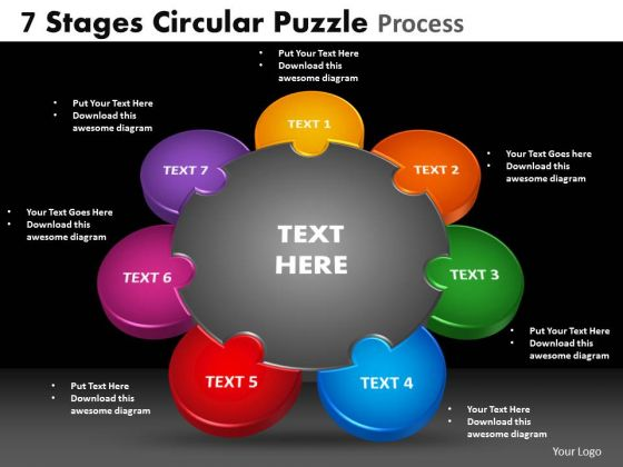 PowerPoint Process Image Circular Puzzle Ppt Layout