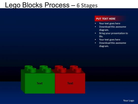 PowerPoint Process Image Lego Blocks Ppt Template