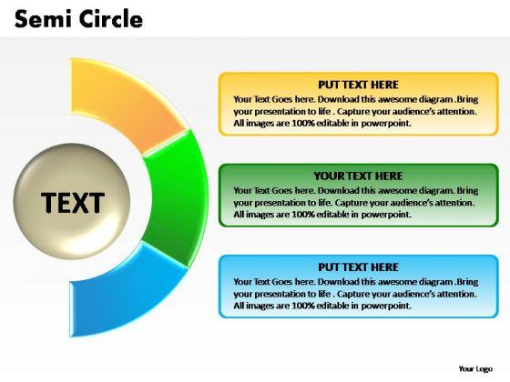 PowerPoint Process Image Semi Circle Chart Ppt Template