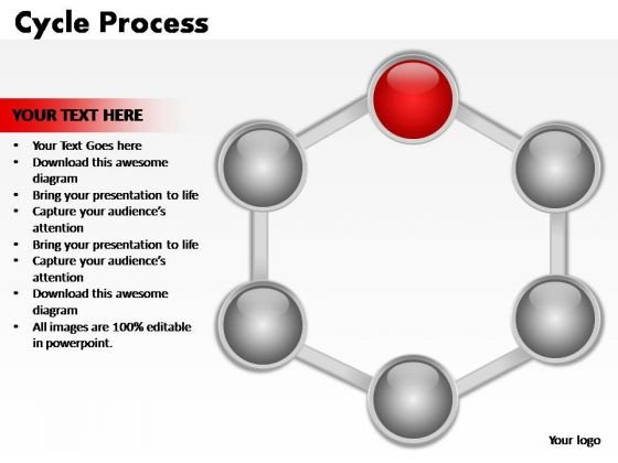PowerPoint Process Leadership Cycle Process Ppt Template