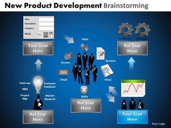 PowerPoint Process Leadership Development Brainstorming Ppt Layouts