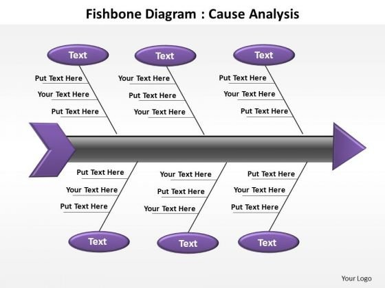 PowerPoint Process Leadership Fishbone Diagram Ppt Slide Designs