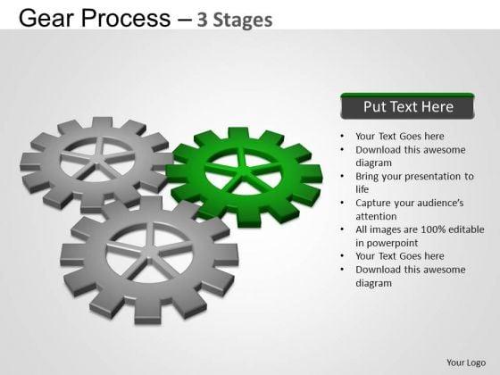 PowerPoint Process Leadership Gears Process Ppt Design