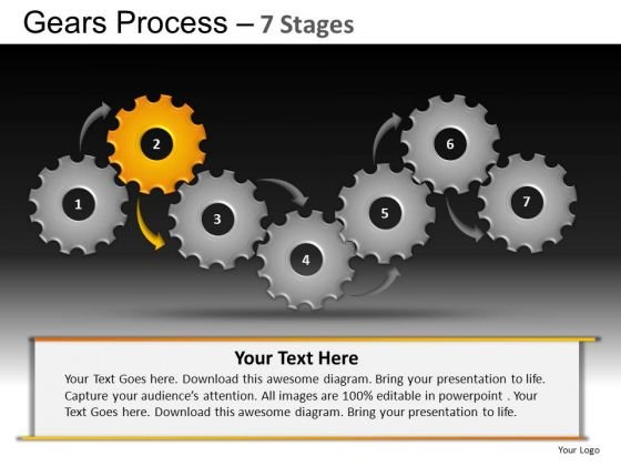 PowerPoint Process Leadership Gears Process Ppt Design Slides
