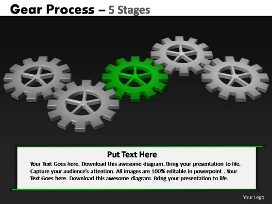 PowerPoint Process Leadership Gears Process Ppt Slide