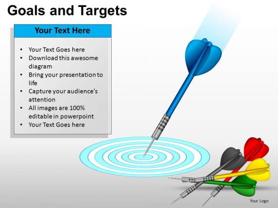 PowerPoint Process Leadership Goals And Targets Ppt Template