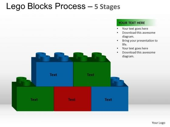 PowerPoint Process Leadership Lego Blocks Ppt Theme