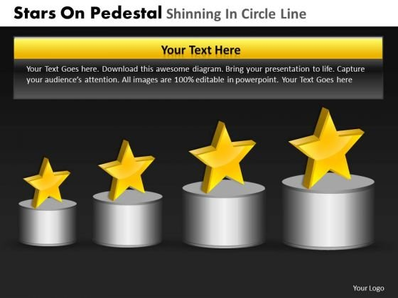 PowerPoint Process Leadership Pedestal Shinning Ppt Presentation
