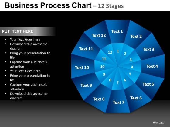 PowerPoint Process Leadership Pie Chart Ppt Template