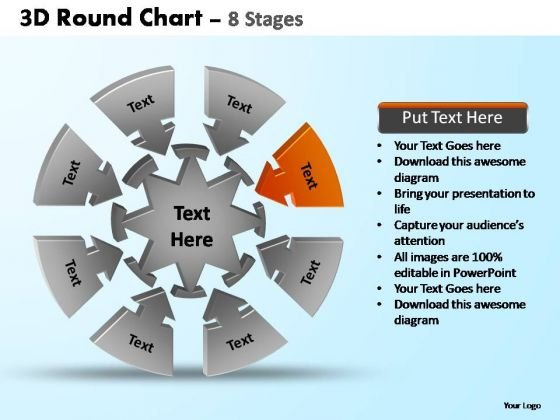 PowerPoint Process Leadership Pie Chart With Arrows Ppt Design