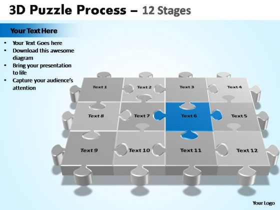 PowerPoint Process Leadership Puzzle Process Ppt Design