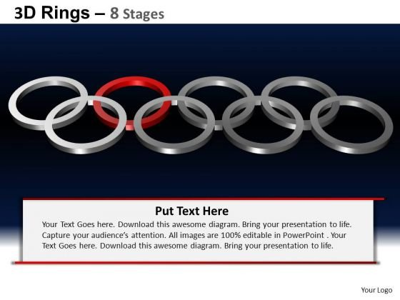 PowerPoint Process Leadership Rings Ppt Backgrounds
