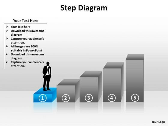 PowerPoint Process Leadership Step Diagram Ppt Themes