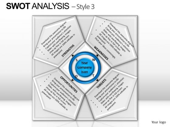 PowerPoint Process Leadership Swot Analysis Ppt Design