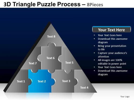 PowerPoint Process Leadership Triangle Puzzle Ppt Backgrounds