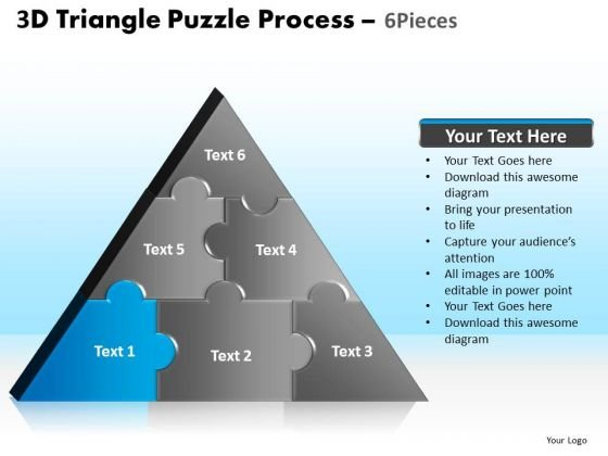 PowerPoint Process Leadership Triangle Puzzle Ppt Designs