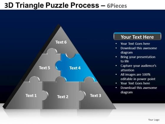 PowerPoint Process Leadership Triangle Puzzle Ppt Layout