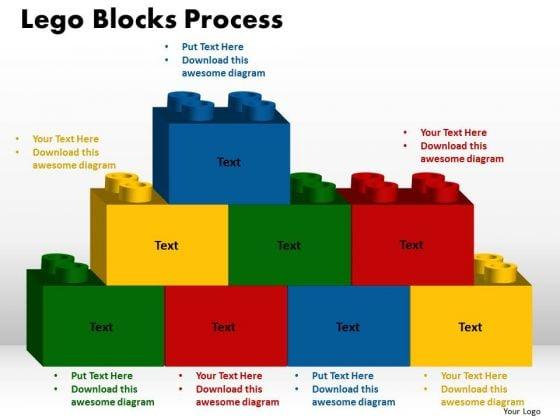PowerPoint Process Lego Blocks Process Business Ppt Slides