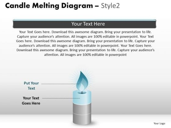 PowerPoint Process Marketing Candle Melting Ppt Presentation