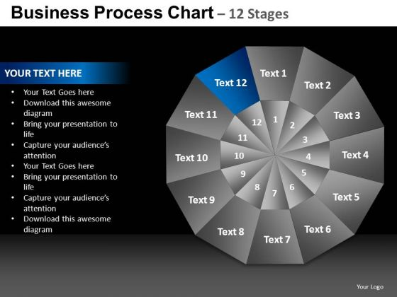 PowerPoint Process Marketing Chart Ppt Designs