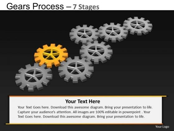 PowerPoint Process Marketing Gears Process Ppt Presentation